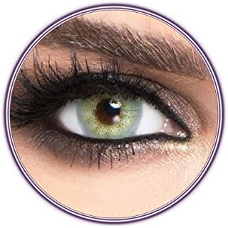 Luminous Lazord Contact Lenses, Unisex Luminous Cosmetic Contact Lenses, Yearly Disposable, Lazord (Grey Green Color)