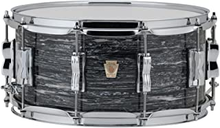 Ludwig Classic Maple Snare Drum with P86 Throw Off - 6.5 Inches X 14 Inches Vintage Black Oyster Pearl