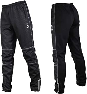 DuShow Men Fleece Cycling Winter Pants(No Padded) Women Thermal Windproof Athletic Pants