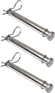 B&W Hitches TS35010 Set of 3 Tow and Stow Stainless Steel Receiver Hitch Pins w/Keeper Clips