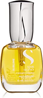 Alfaparf Milano Semi Di Lino Sublime Cristalli Liquidi Smoothing Hair Serum - Superior Finishing Hair Oil Treatment - Provides Brilliant Shine and Protection - Professional Salon Quality
