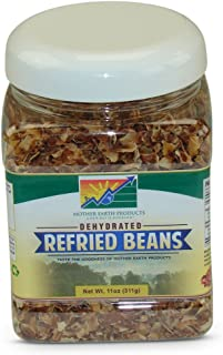 Mother Earth Products Dehydrated Fast Cooking Refried Bean Mix, quart Jar