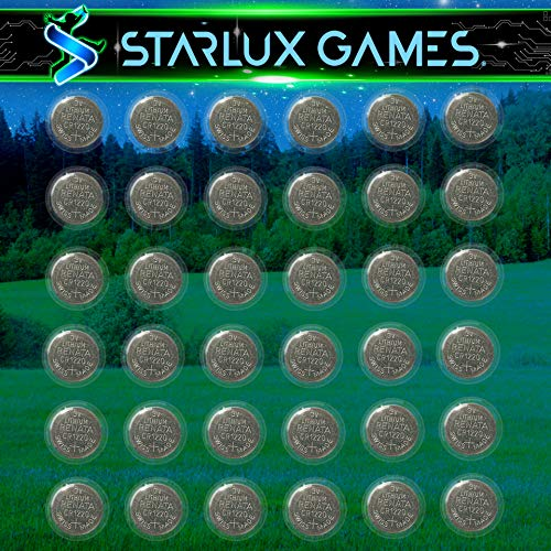 Starlux Games Replacement Battery Set - for Capture The Flag Redux, Wizards & Werewolves, Pool Party, Dive Diamonds, Vikings of The Northern Lights, Protectors of The Rainbow