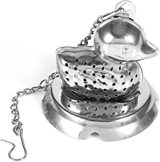 Food Safe 8/20 Stainless Steel Loose Leaf Tea Infuser, Cute Animal Shape Infuser, Herbal Spice Infuser, Ball Strainer, with Long Chain Hook to Brew Loose Leaf Tea, Spices and Seasonings (Duck)