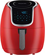 PowerXL Air Fryer Vortex - Multi Cooker with Roast, Bake, Food Dehydrator, Reheat Non Stick Coated Basket, Cookbook (5 QT, Red)