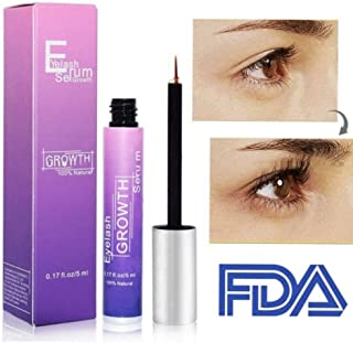 Vanelc Best Organic Lash Serum,Eyelash Growth Serum& Brow Serum,For Long, Thick Looking Natural Lashes and Eyebrows 5ML