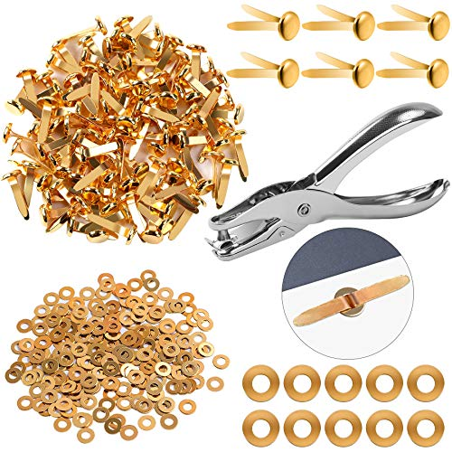 200 Pieces 8x17mm Brass Paper Fa...