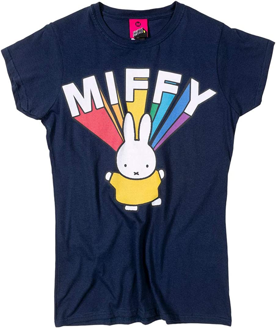Womens Miffy Rainbow Name T outlet Brand Cheap Sale Venue Shirt Navy Fitted