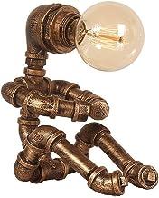 ADFD E27 Vintage Industriële Robot Licht Water Pijp Tafellamp Indoor Verlichting Armatuur