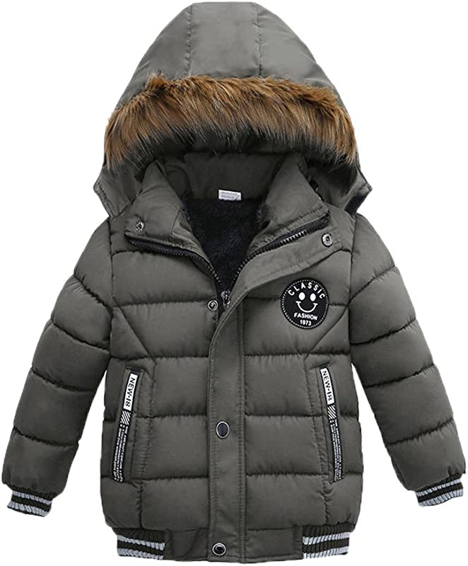 Sunbona Toddler Baby Boys Autumn Winter Down Jacket Coat Warm Padded Thick Outerwear Clothes