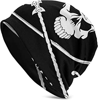 TAOMAAM Sea Shepherd Skull Casual Fashion Autumn and Winter Knit Hat Soft Warm Ski Hat Unisex Outdoor Hat, One Size Black