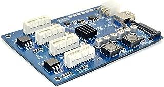 ACEHE Kit d'extension Pci-E X1 à 4Pci-E X16 1 à 4 Ports Pci Express Switch Multiplicateur Hub 6Pin Sata USB Riser Card pou...