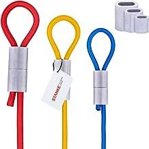 Seilwerk STANKE rubber touw met aluminium hulzen, elastisch touw 10mm 20m GROEN met 40 klemmen 10mm