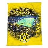 Borussia Dortmund Manta de lana con estampado del estadio, U