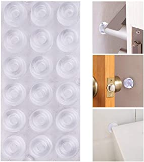 AUSTOR 18 Pack Clear Door Knob Bumpers Self Adhesive Door Stopper Bumpers Wall Protectors Rubber Feet for Furniture, Glass, Electrical Appliances