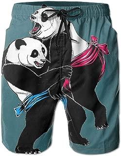 Men's Fierce Panda Sumo WrestGames Boardshort Beach Shorts Swimming Trunks