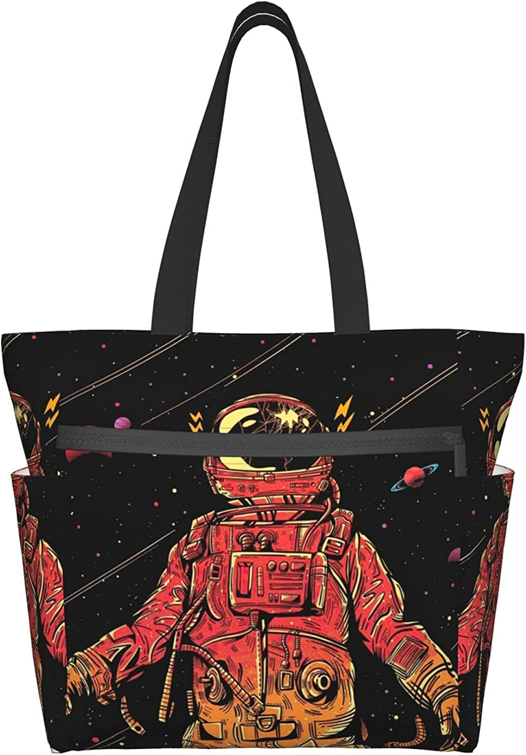 YXYXN Awesome Award-winning store red astronaut under large-capac Same day shipping the meteor Women's