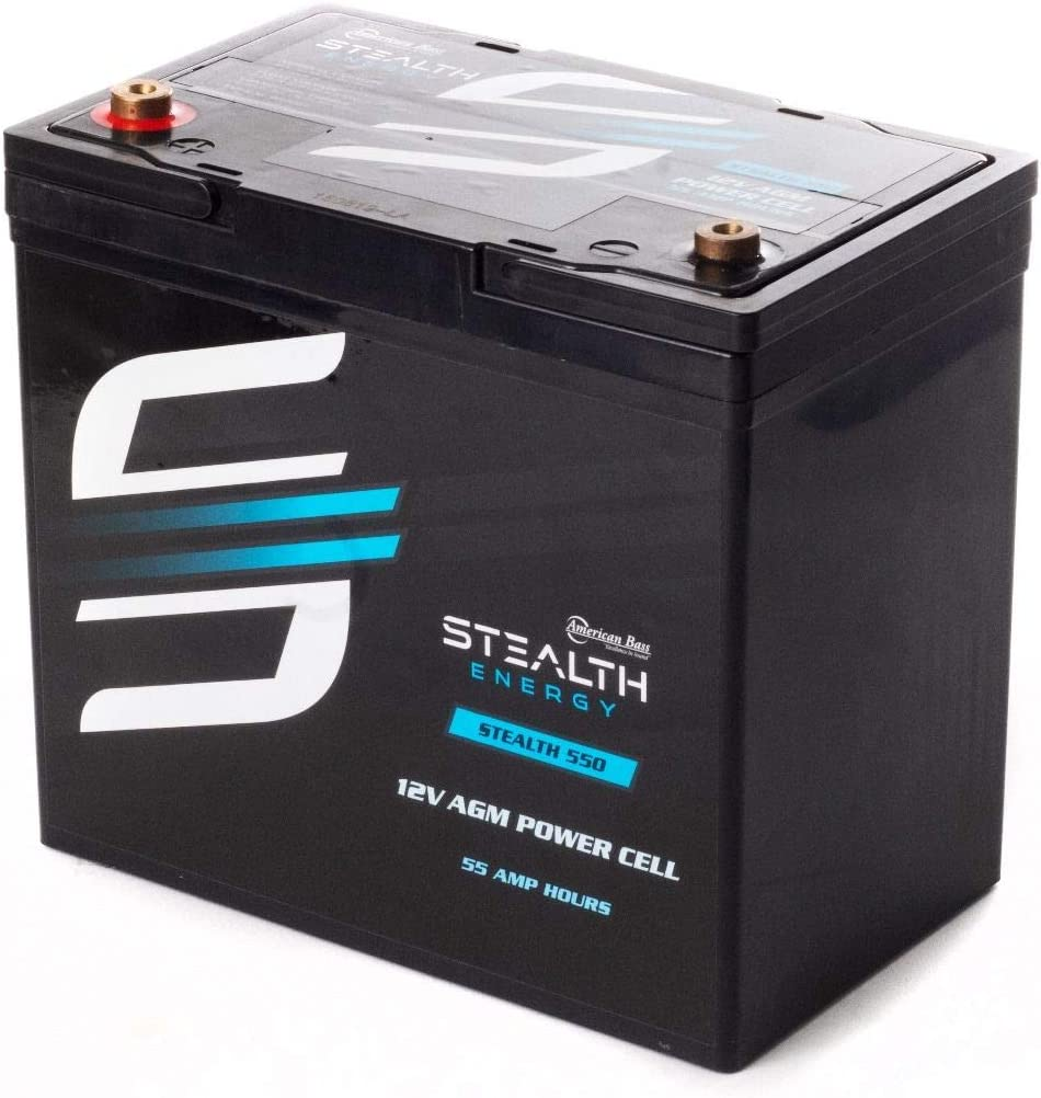 American Bass Same day shipping 12V 55 Amp Hours Watt 550 Battery AGM STEALTH 1500 Direct store