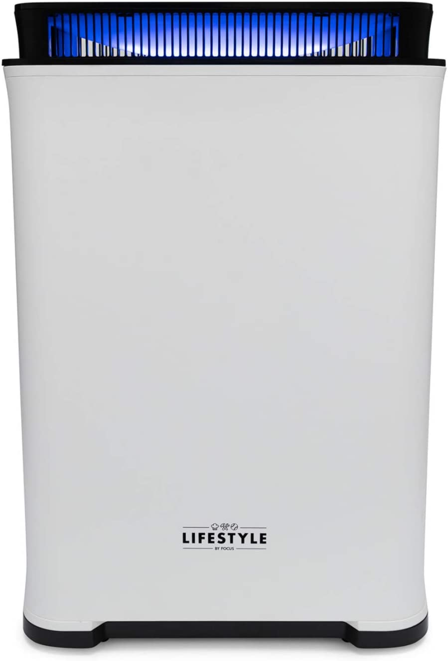 Lifestyle by Focus LS-AP350 PURA Max Air Purifier and Humidifier with True HEPA Filter, Odor Allergies Eliminator for Smoke, Dust, Mold, Home and Pets with Optional Night Light and Child Lock