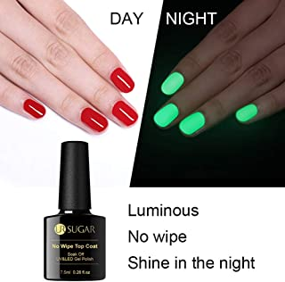 UR SUGAR 7.5ml No Wipe Top Coat Halloween Luminous UV LED Gel Polish Soak Off Long Lasting Nail Art Gel Varnish Manicure