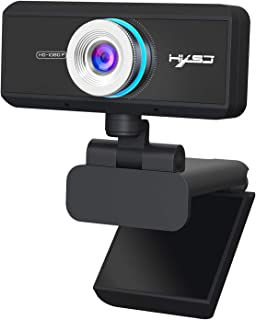 AUTENS Webcam 1080P HD Computer Camera Laptop USB PC Web Cam with Microphone, Manual Focus, 360° Rotatable Plug and Play W...