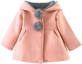 Jimmackey Giacca Bimba,Cappotti Bimba Invernali Cappotti e Giacche per Bambina Bambini Ragazze Cappotto di Leopardo Floreale Autunno Inverno Cappotti Caldo Giacche per 2-7 Anni