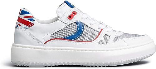 Nero giardini  sneaker teens bambino pelle/tela E033761M
