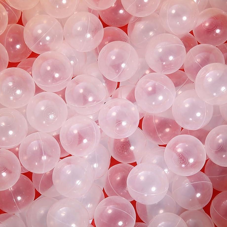 インフラ気質特別にカラーボール おもちゃボール 透明な色100個 直径5.5cm やわらかポリエチレン製 収納ネットセット