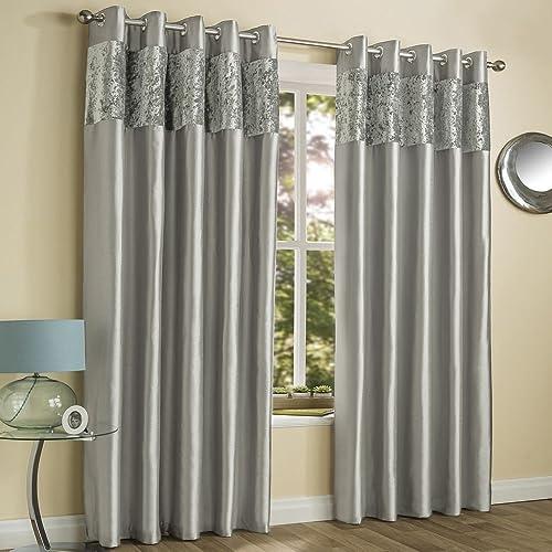 Silver Grey Curtains: Amazon.co.uk
