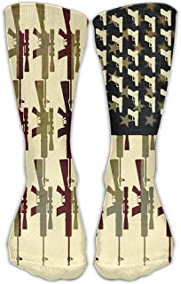 Calcetines de vestir con diseño de la bandera estadounidense, unisex, para zapatos
