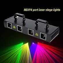 4 Lens 30W Stage Light 100 Multi-Patterns 7CH DMX512 Controlled Disco DJ Party Effect Lights RGPY US Plug 110V (Black)