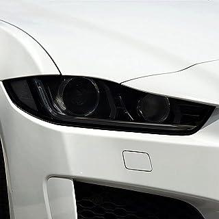 NCUIXZHAdesivo de vinil transparente preto TPU para farol de carro de 2 peças , Para Jaguar XE X760 2016 2017 2018 201920...