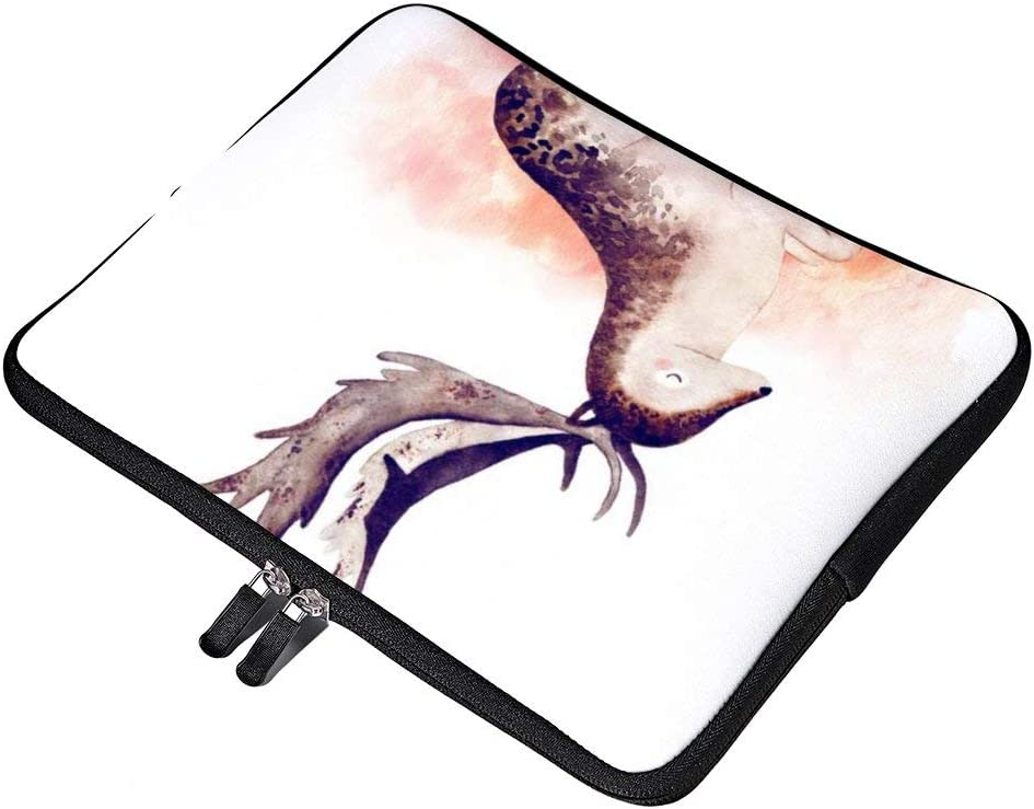 Cute Watercolor Cat 15 Inch Protective Laptop Sleeve Ultrabook Notebook Carrying Case Compatible with MacBook Pro MacBook Air Tablet Briefcase Bag
