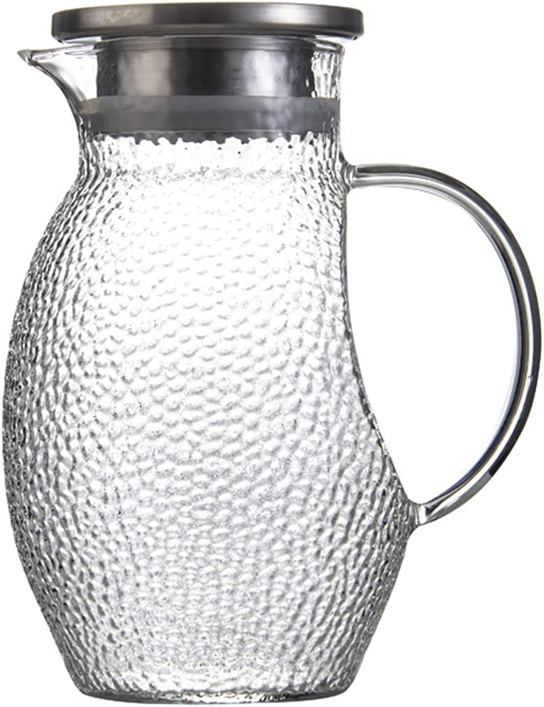 Water Pitcher High Borosilicate Baltimore Mall Max 57% OFF Glass with Two of Types