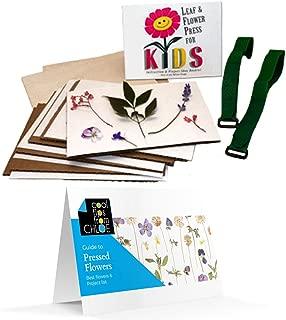 Nature's Pressed Flower Pressing Kit for Kids and Bonus Flower Press Guide