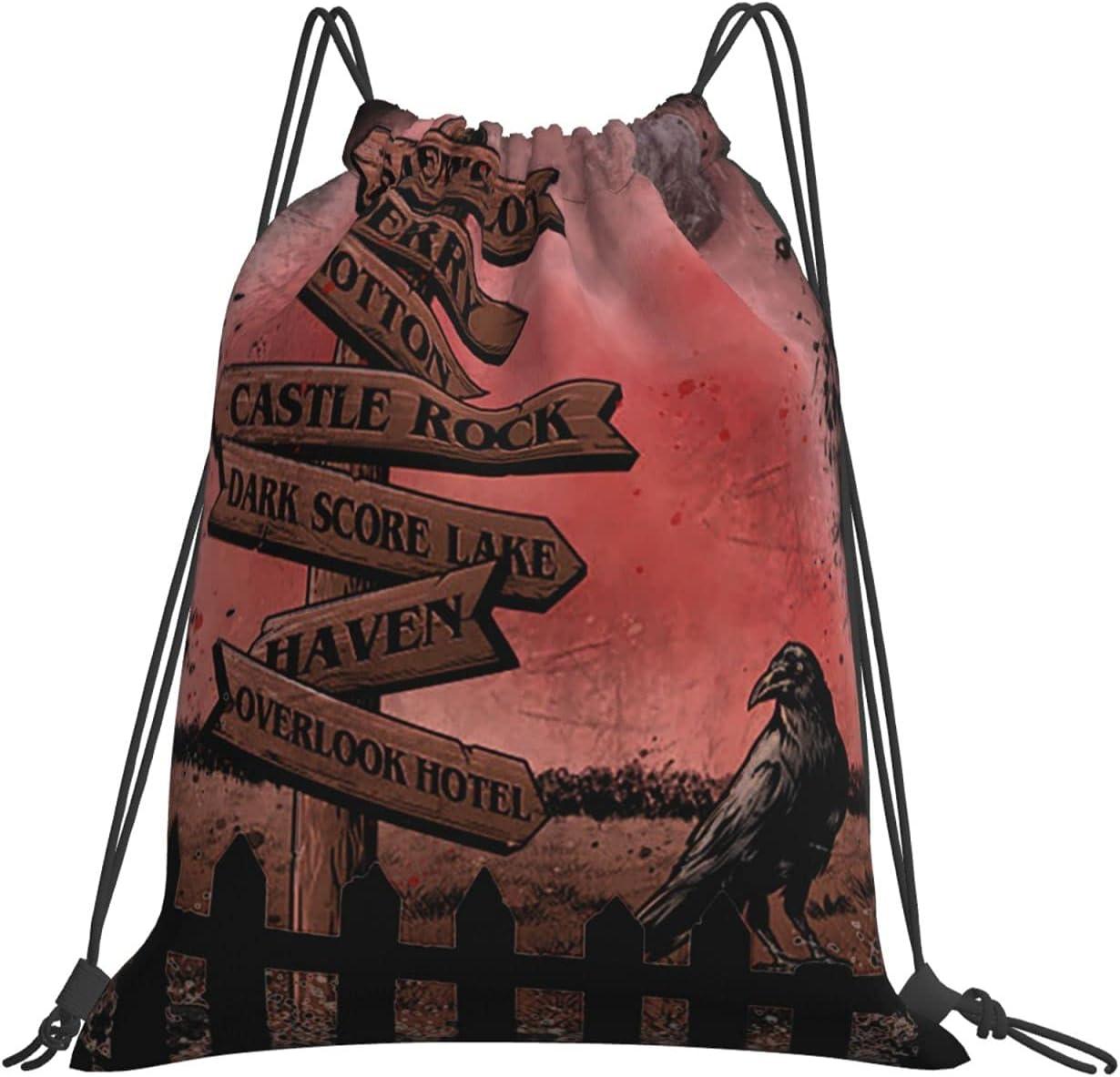 At the price Stephen King Drawstring Backpack Water San Jose Mall Handbag Resistant C Large