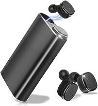 [Bluetooth5.0進化版] Bluetooth イヤホン 完全 ワイヤレス イヤホン 高音質 LIDOFIGO ブルートゥース イヤホン 自動ペアリング 自動ON/OFF スポーツイヤホン IPX5 防水 左右分離式 両耳 充電ケース付き モバイルバッテリー iPhone&Android対応 (ブラック)