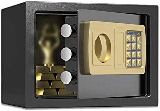 Safe Box Safes, Home Office 20cm Deposit Safes Electronicl Password Wall-anchoring Design Security Lock Box Solid Steel Co...
