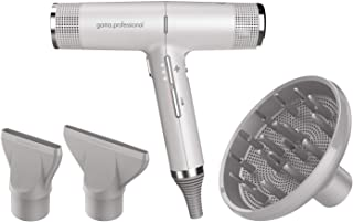 GAMA Italy Professional Hair Dryer - IQ Perfetto - Lightweight, Powerful Pro Salon Blow Dryer (Under 1LB) with Diffuser & 2 Concentrator Nozzle Attachment Tools