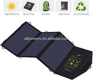 21 Watt Solar Panel Charger with Dual USB Ports Foldable High Effiency Outdoor Solar Panel for Smart Cell Phones