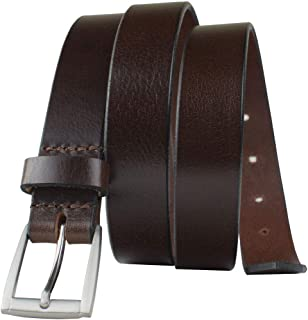 Avery Belt - Nickel Smart - Women's Brown Genuine Full Grain Leather Belt with Nickel Free Buckle