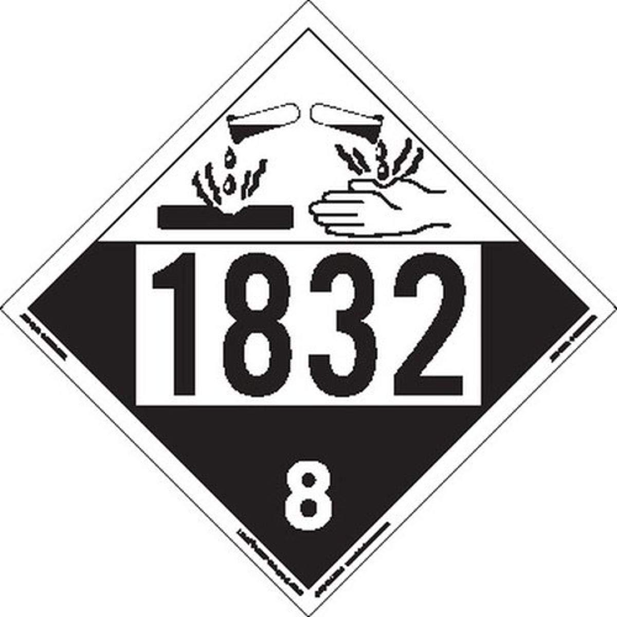 Labelmaster ZT4-1832 Max 49% OFF UN Ranking TOP4 1832 Corrosive Placard Tagboard Hazmat
