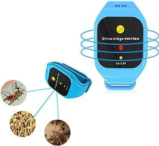 Akemaio Reloj Pulsera Repelente de Mosquitos por ultrasonidos para niños Adultos, LED Inteligente electrónica de la Onda acústica del Mosquito Pulsera de la Pulsera para completar un Ciclo