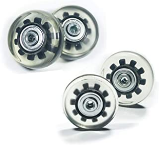 Wear-Resistant Mute Luggage Suitcase Replacement Wheels Rubber Swivel Caster Wheels Repair Kits (50mm x 4 Sets)