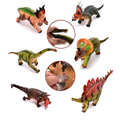 WonderPlay 7-12 Inch Soft Dinosaur Figures Toys...