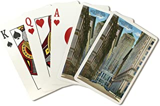 Chicago, Illinois - Exterior View of the Board of Trade Building, Looking Down La Salle Street (Playing Card Deck - 52 Card Poker Size with Jokers)