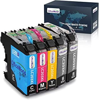 OfficeWorld Compatible Ink Cartridges Replacement for Brother LC203 203XL LC203XL (2 Packs), Compatible with Brother MFC-J480DW, MFC-J460DW, MFC-J880DW, MFC-J680DW, MFC-J4420DW, MFC-J4620DW Printer