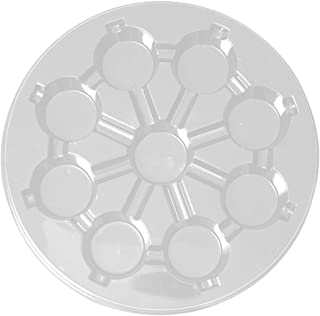 Party Essentials Soft Plastic 12-Inch Round 9-Cavity Cupcake Trays, Crystal Clear, 3-Pack