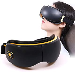 Electric Eye Vibration Massager with 4 Modes of Heating/Rap/Music/Air Compression, Relax Eyes, Reduce Dark Circles, Relieve Head Pressure, Improve Sleep