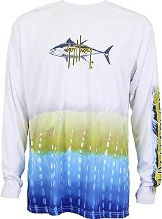 Guy Harvey Mens Bf Tuna Long Sleeve Performance Shirt